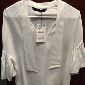 NWT Zara new ivory blouse